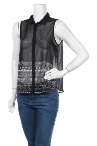 Γυναικείο πουκάμισο Girl Xpress, Μέγεθος M, Χρώμα Μαύρο, Πολυεστέρας, Τιμή 3,64€