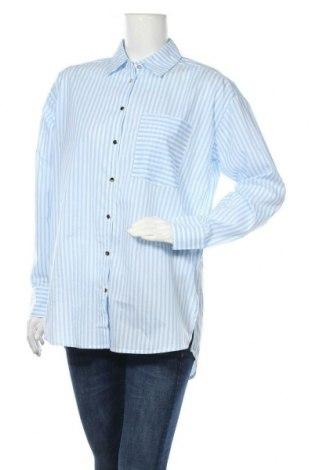 Γυναικείο πουκάμισο Kaffe, Μέγεθος M, Χρώμα Μπλέ, Τιμή 25,97€