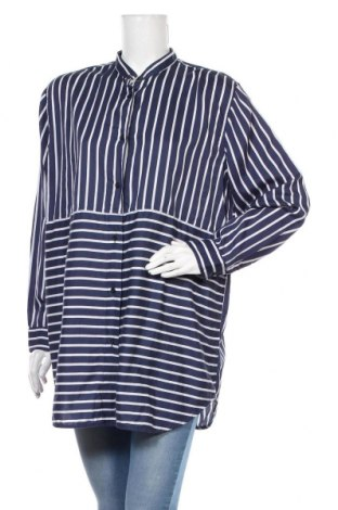 Дамска риза Mads Norgaard, Размер M, Цвят Син, Памук, Цена 29,24лв.