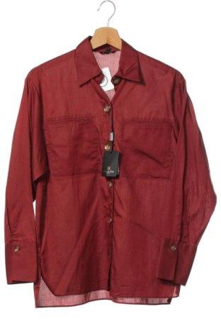 Дамска риза Massimo Dutti, Размер XS, Цвят Червен, 63% лиосел, 37% памук, Цена 33,97лв.