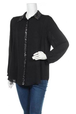 Γυναικείο πουκάμισο Suzanne Grae, Μέγεθος L, Χρώμα Μαύρο, Πολυεστέρας, Τιμή 3,86€