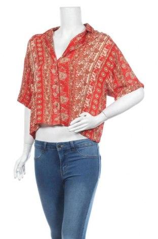 Cămașă de femei Urban Outfitters, Mărime M, Culoare Roșu, Viscoză, Preț 170,23 Lei