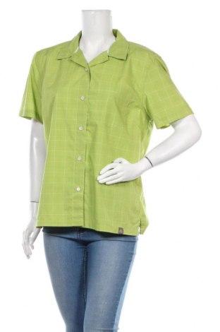 Дамска риза Vaude, Размер M, Цвят Зелен, 65% полиестер, 35% памук, Цена 6,29лв.