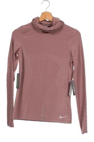 Bluză trening de femei Nike, Mărime XS, Culoare Roz, 61% poliester, 27% poliamidă, 12% elastan, Preț 219,57 Lei