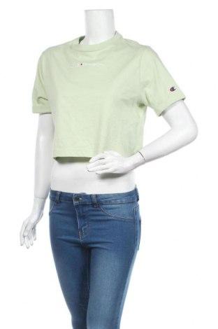 Tricou de femei Champion, Mărime M, Culoare Verde, Bumbac, Preț 103,62 Lei