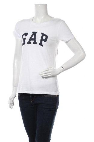 Γυναικείο t-shirt Gap, Μέγεθος S, Χρώμα Λευκό, Βαμβάκι, Τιμή 15,08€