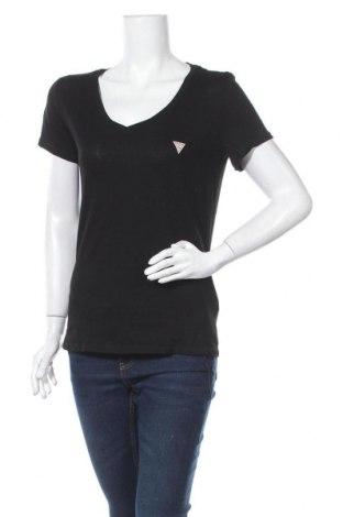 Γυναικείο t-shirt Guess, Μέγεθος S, Χρώμα Μαύρο, 50% βαμβάκι, 50% μοντάλ, Τιμή 25,97€