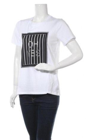 Γυναικείο t-shirt Kaffe, Μέγεθος M, Χρώμα Λευκό, Βαμβάκι, Τιμή 18,06€