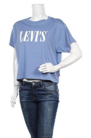 Γυναικείο t-shirt Levi's, Μέγεθος M, Χρώμα Μπλέ, Βαμβάκι, Τιμή 22,20€
