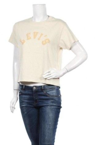 Γυναικείο t-shirt Levi's, Μέγεθος XS, Χρώμα  Μπέζ, Βαμβάκι, Τιμή 22,20€