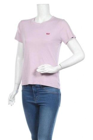Дамска тениска Levi's, Размер L, Цвят Лилав, Памук, Цена 43,07лв.