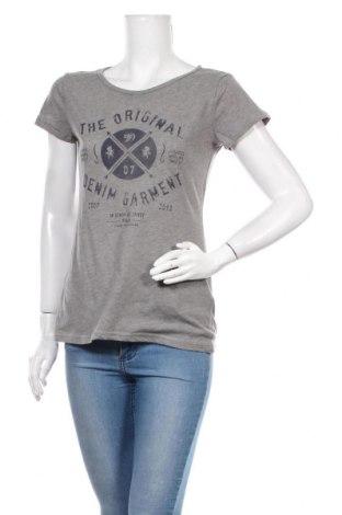 Γυναικείο t-shirt Tom Tailor, Μέγεθος M, Χρώμα Γκρί, 65% πολυεστέρας, 35% βαμβάκι, Τιμή 18,19€