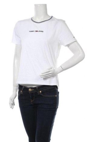 Дамска тениска Tommy Hilfiger, Размер M, Цвят Бял, Памук, Цена 72,00лв.