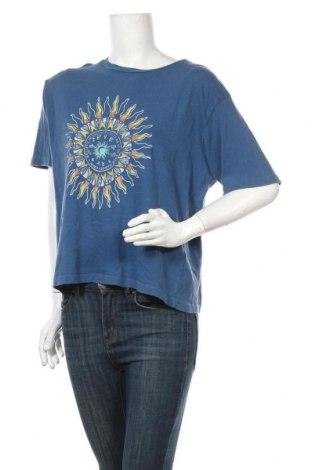 Дамска тениска Urban Outfitters, Размер L, Цвят Син, Памук, Цена 23,52лв.