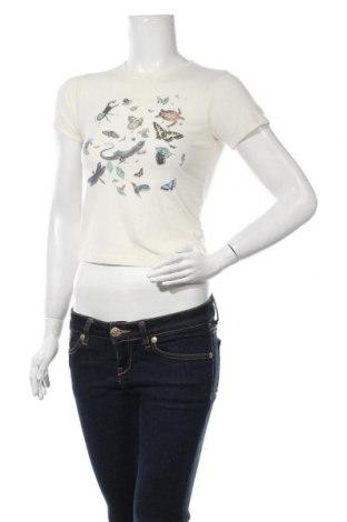 Дамска тениска Urban Outfitters, Размер S, Цвят Бежов, 48% полиестер, 48% памук, 4% еластан, Цена 31,50лв.