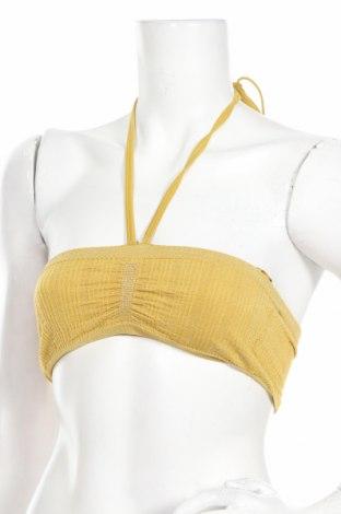 Costum de baie de damă Urban Outfitters, Mărime S, Culoare Auriu, 92% poliamidă, 7% elastan, 1% fire din metal, Preț 89,80 Lei