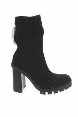 Дамски боти Zara, Размер 40, Цвят Черен, Текстил, Цена 32,48лв.