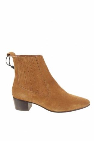 Γυναικεία μποτάκια Zara, Μέγεθος 39, Χρώμα Καφέ, Φυσικό σουέτ, Τιμή 13,12€