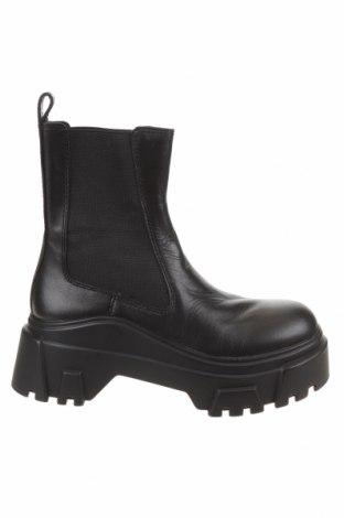 Dámské boty  Zara, Velikost 36, Barva Černá, Pravá kůže, textile , Cena  2449,00Kč