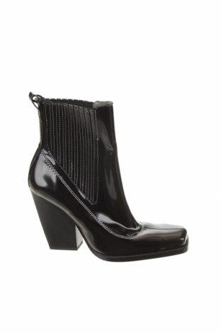 Γυναικεία μποτάκια Zara, Μέγεθος 36, Χρώμα Μαύρο, Δερματίνη, Τιμή 12,27€