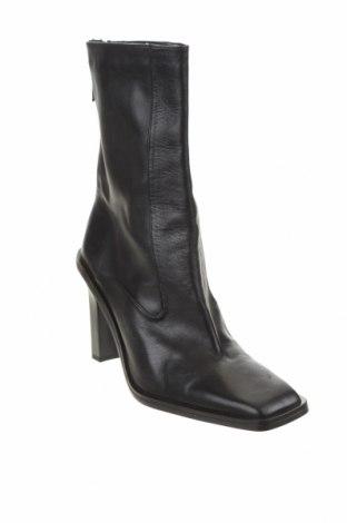 Dámské boty  Zara, Velikost 41, Barva Černá, Pravá kůže, Cena  1837,00Kč