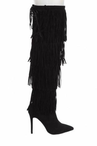 Дамски ботуши Exe, Размер 39, Цвят Черен, Текстил, Цена 50,78лв.