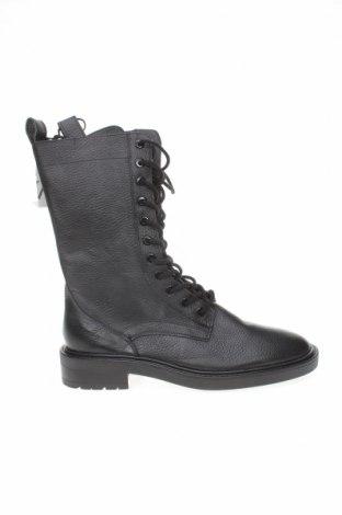 Dámské boty  Zara, Velikost 40, Barva Černá, Pravá kůže, Cena  756,00Kč