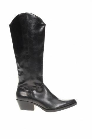 Cizme de damă Zara, Mărime 38, Culoare Negru, Piele ecologică, Preț 64,92 Lei
