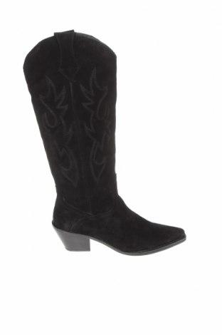 Dámské boty  Zara, Velikost 38, Barva Černá, Přírodní velur , Cena  730,00Kč