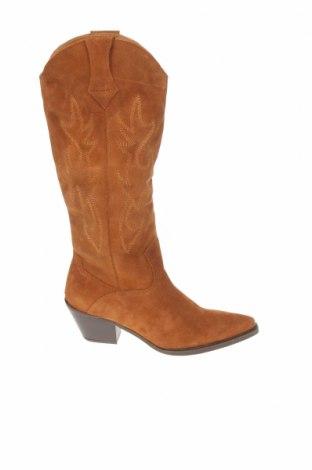 Dámské boty  Zara, Velikost 39, Barva Hnědá, Přírodní velur , Cena  763,00Kč