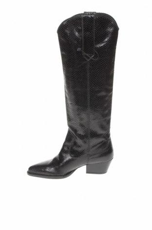 Dámské boty  Zara, Velikost 37, Barva Černá, Pravá kůže, Cena  685,00Kč