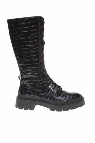 Дамски ботуши Zara, Размер 40, Цвят Черен, Еко кожа, Цена 38,70лв.