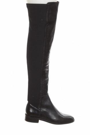 Dámské boty  Zara, Velikost 36, Barva Černá, Pravá kůže, textile , Cena  2326,00Kč
