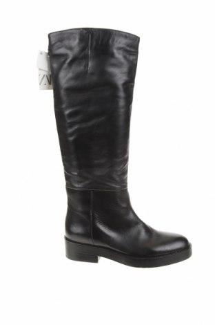 Dámské boty  Zara, Velikost 38, Barva Černá, Pravá kůže, Cena  889,00Kč