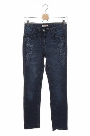 Дамски дънки Alba Moda, Размер XS, Цвят Син, 99% памук, 1% еластан, Цена 6,89лв.