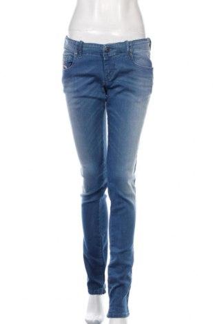 Dámské džíny  Diesel, Velikost L, Barva Modrá, 93% bavlna, 6% polyester, 1% elastan, Cena  708,00Kč