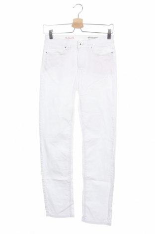 Дамски дънки Edc By Esprit, Размер S, Цвят Бял, 98% памук, 2% еластан, Цена 11,48лв.