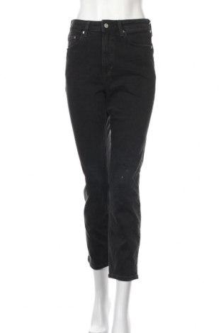 Дамски дънки H&M Conscious Collection, Размер M, Цвят Черен, 99% памук, 1% еластан, Цена 26,88лв.