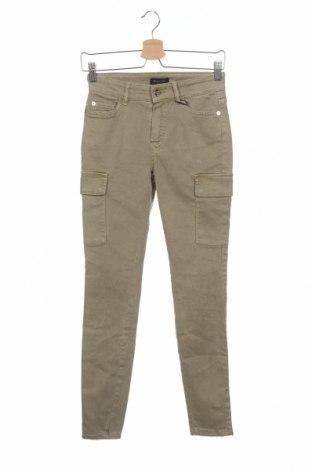 Дамски дънки Massimo Dutti, Размер XS, Цвят Зелен, 61% памук, 36% лиосел, 3% еластан, Цена 81,75лв.