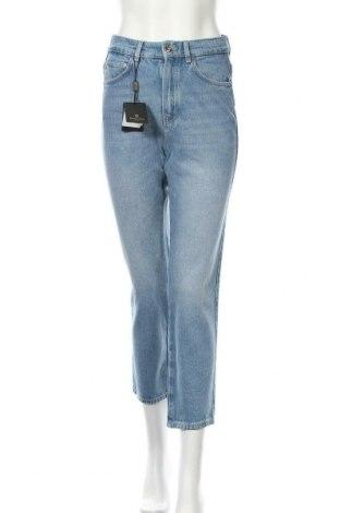 Дамски дънки Massimo Dutti, Размер S, Цвят Син, Памук, Цена 46,87лв.