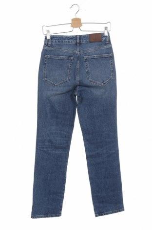 Дамски дънки Massimo Dutti, Размер XS, Цвят Син, 99% памук, 1% еластан, Цена 39,52лв.