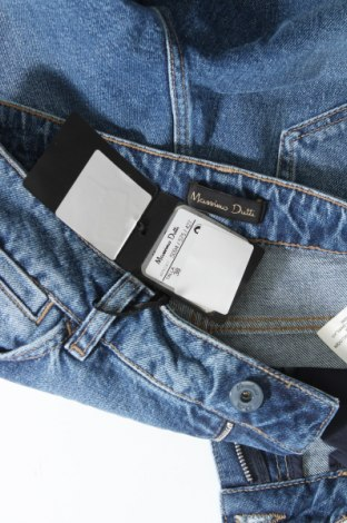 Дамски дънки Massimo Dutti, Размер M, Цвят Син, 99% памук, 1% еластан, Цена 52,51лв.