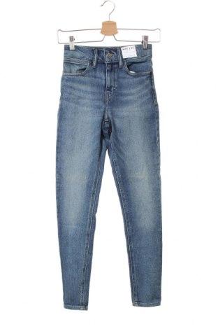 Γυναικείο Τζίν Topshop, Μέγεθος XXS, Χρώμα Μπλέ, 94% βαμβάκι, 4% πολυεστέρας, 2% ελαστάνη, Τιμή 16,01€