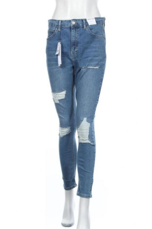 Γυναικείο Τζίν Topshop, Μέγεθος L, Χρώμα Μπλέ, 92% βαμβάκι, 8% ελαστάνη, Τιμή 22,96€