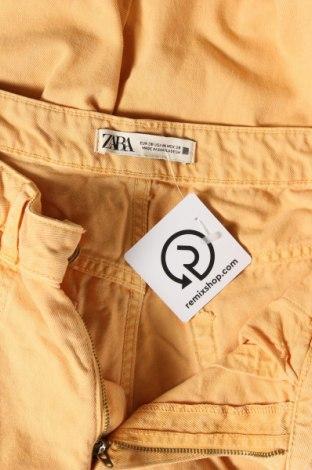 Дамски дънки Zara, Размер M, Цвят Оранжев, 100% памук, Цена 10,21лв.