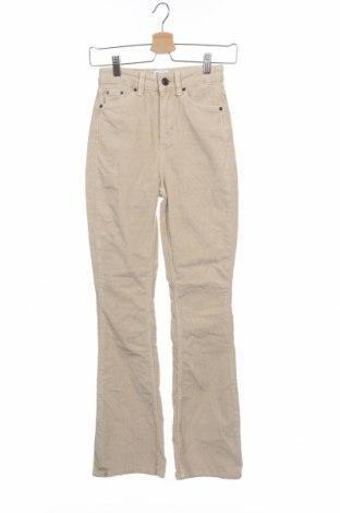 Дамски джинси BDG, Размер XXS, Цвят Бежов, 98% памук, 2% еластан, Цена 63,00лв.
