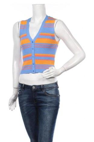 Дамски елек Zara, Размер S, Цвят Многоцветен, 63% вискоза, 37% полиамид, Цена 37,96лв.