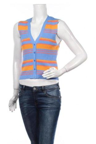 Дамски елек Zara, Размер L, Цвят Син, 63% вискоза, 37% полиамид, Цена 37,96лв.