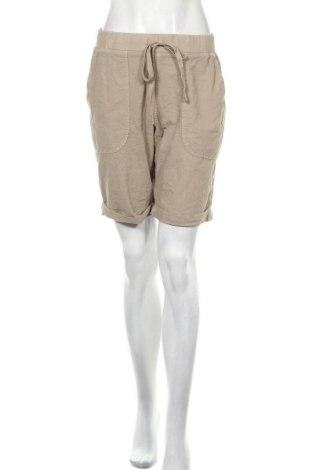 Γυναικείο κοντό παντελόνι Kaffe, Μέγεθος M, Χρώμα  Μπέζ, Βαμβάκι, Τιμή 25,97€