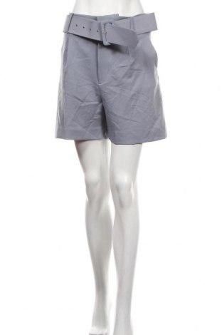 Дамски къс панталон Zara, Размер L, Цвят Син, 95% полиестер, 5% еластан, Цена 13,57лв.